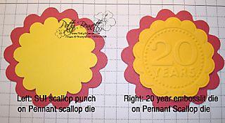 Punch on pennant die