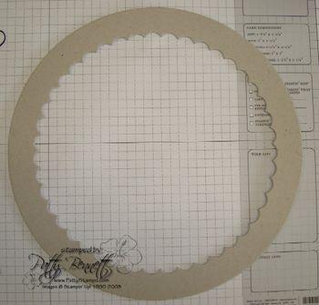 Circle chipboard