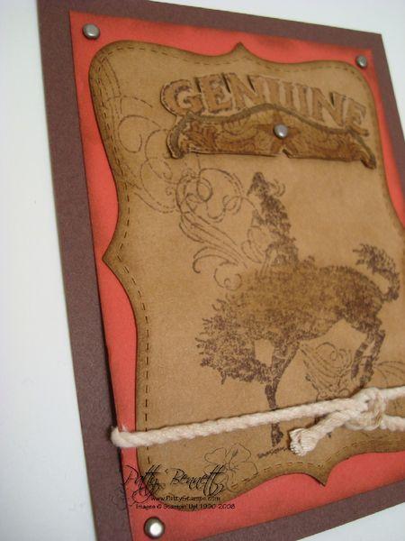 Gasket top note die card