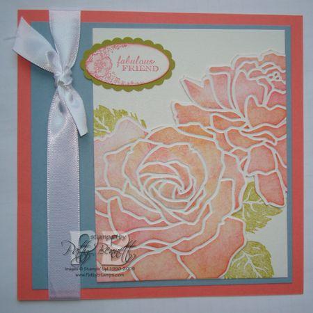 6x6 rose coral