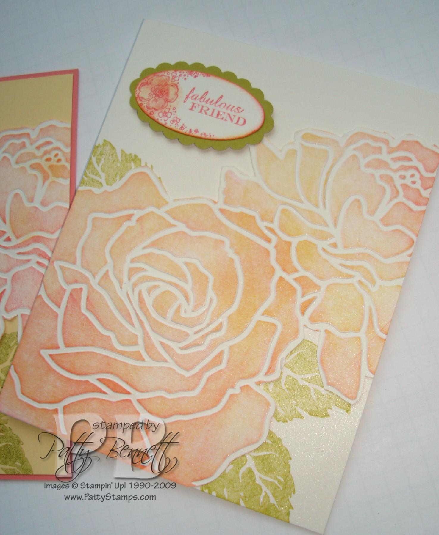 Peachy rose card