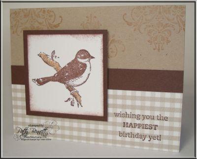 Bird bday card