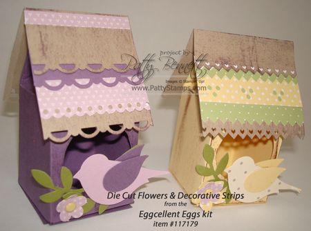 Egg kit birdhouses