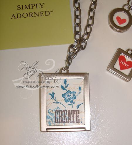 Charm necklace back