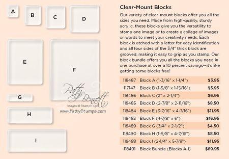 Clear block info