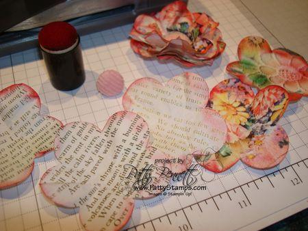 Paper flower pieces