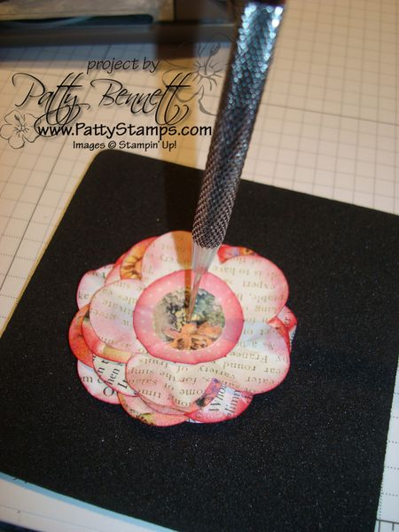 Paper flower layers