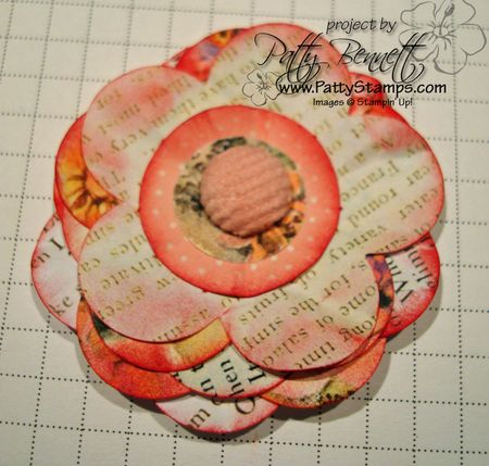 Paper flower layers flat