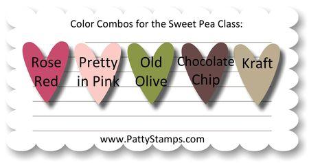 Sweet pea color combo
