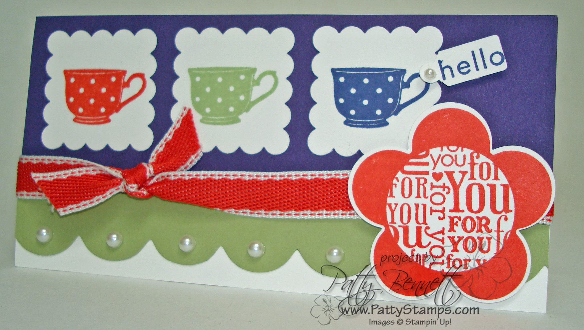 Carte Stampin Up.A La Carte Teacup Stamp Stampin Up In Colors Patty Stamps