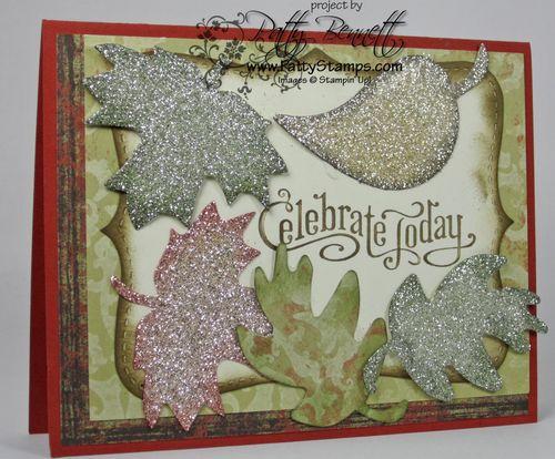 Glimmer leaf card
