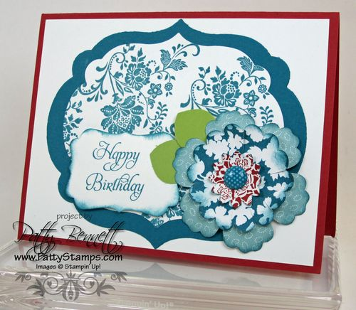 Twitterpated flower card red