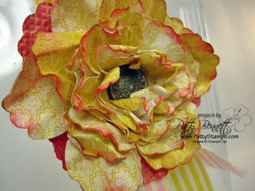 Attic boutique paper flower pin