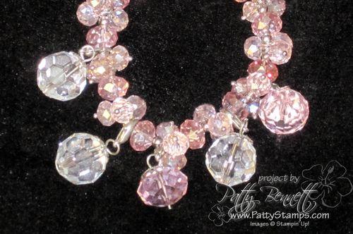 Pink bauble bracelet 2