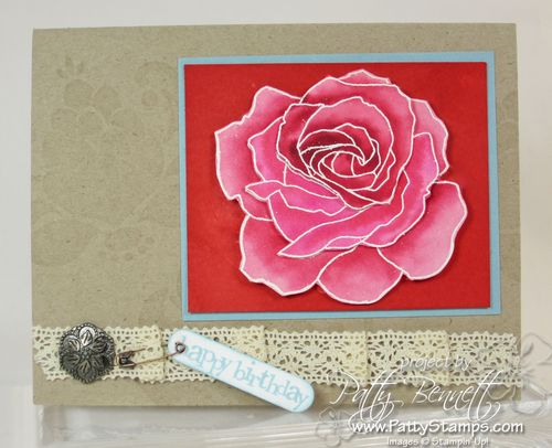 Fifth ave floral watercolor rose