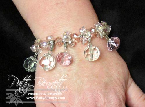 Pink bauble bracelet 1