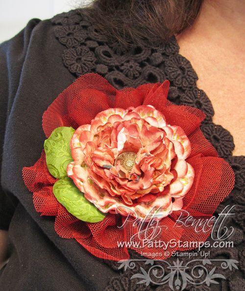 Cobbler tulle flower pin