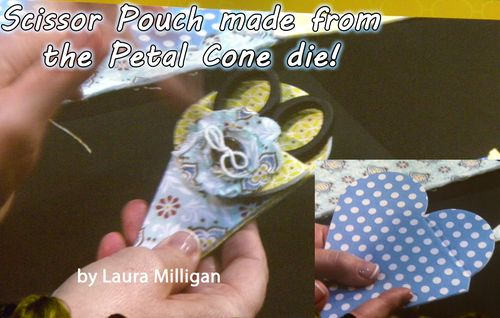 Laura petal cone scissor pouch