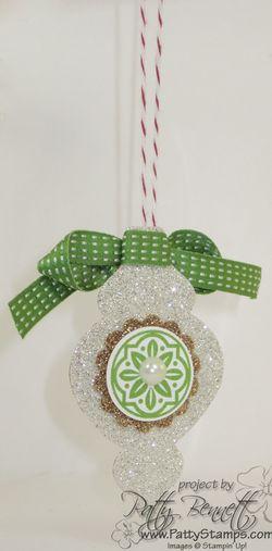 Ornament glimmer silver 2