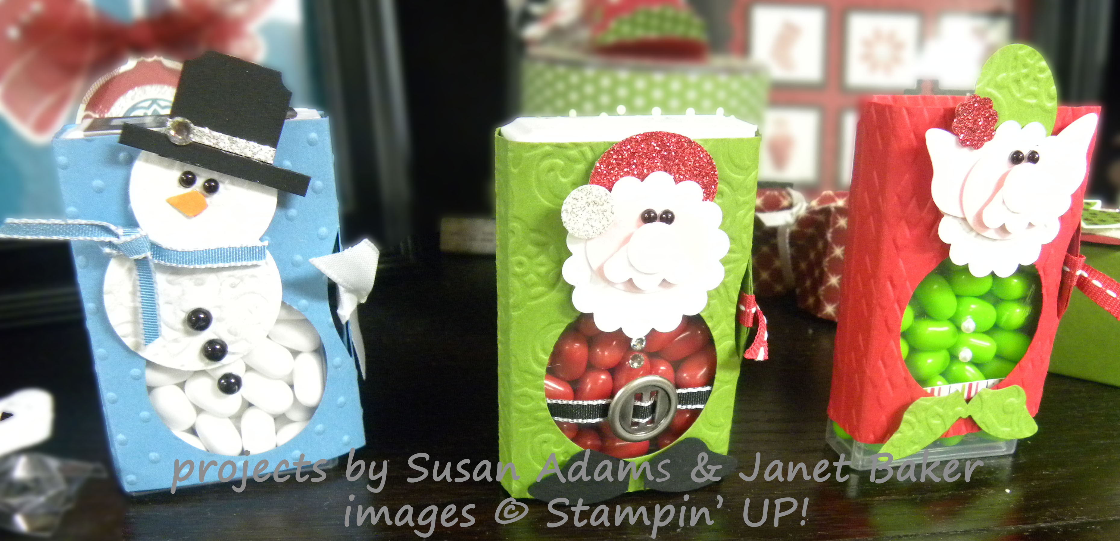 Holiday Tic Tac Punch Art craft project - Patty Stamps