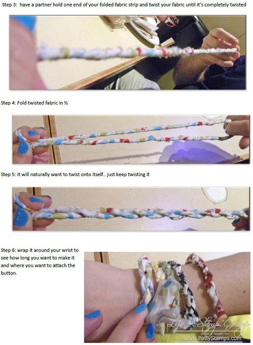 Fabric bracelet instructions 2