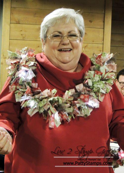 Carol fabric garland