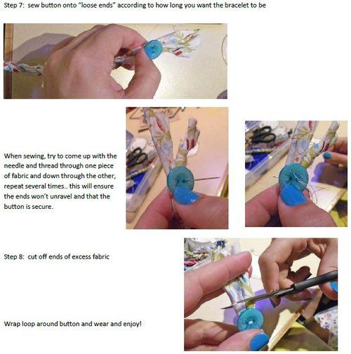 Fabric bracelet instructions 3