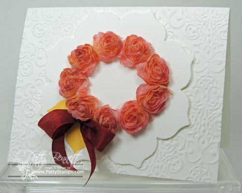 Shaker frame flower wreath card