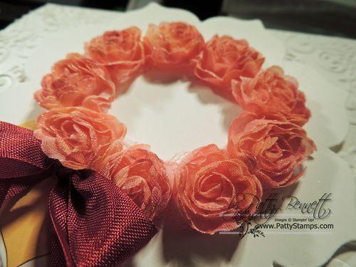 Shaker frame flower wreath 1