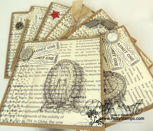 Sponging lace tape cards