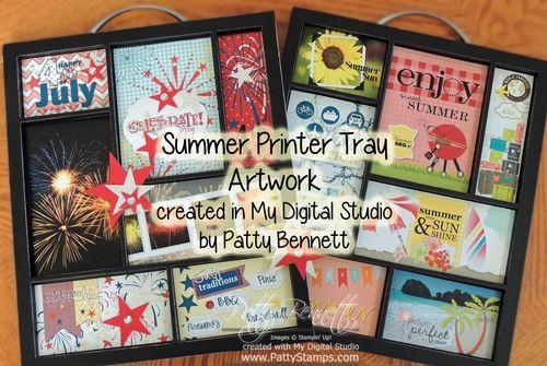 Mds printer tray summer july 4th patty