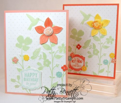 Wildflower meadow simply pressed clay card 1