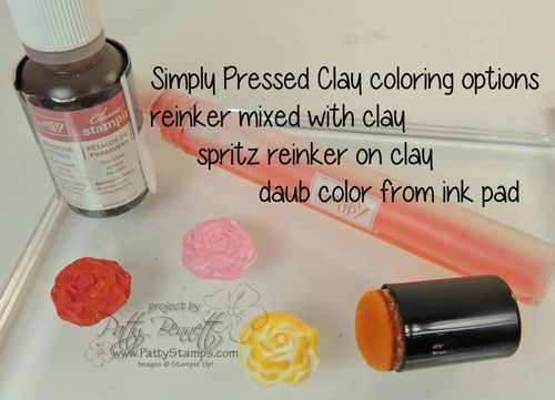 Simply pressed clay coloring options
