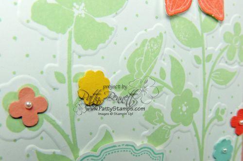 Wildflower meadow embossing folder 1