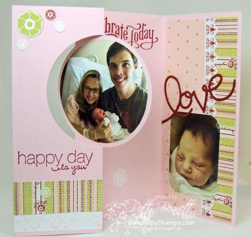 Baby circle thinlit flip card 2