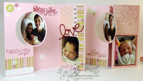 Baby circle thinlit flip cards
