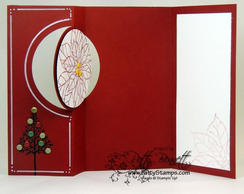 Thinlit circle card christmas 3