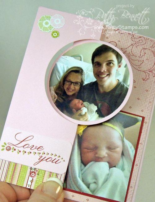 Baby circle thinlit flip card 3