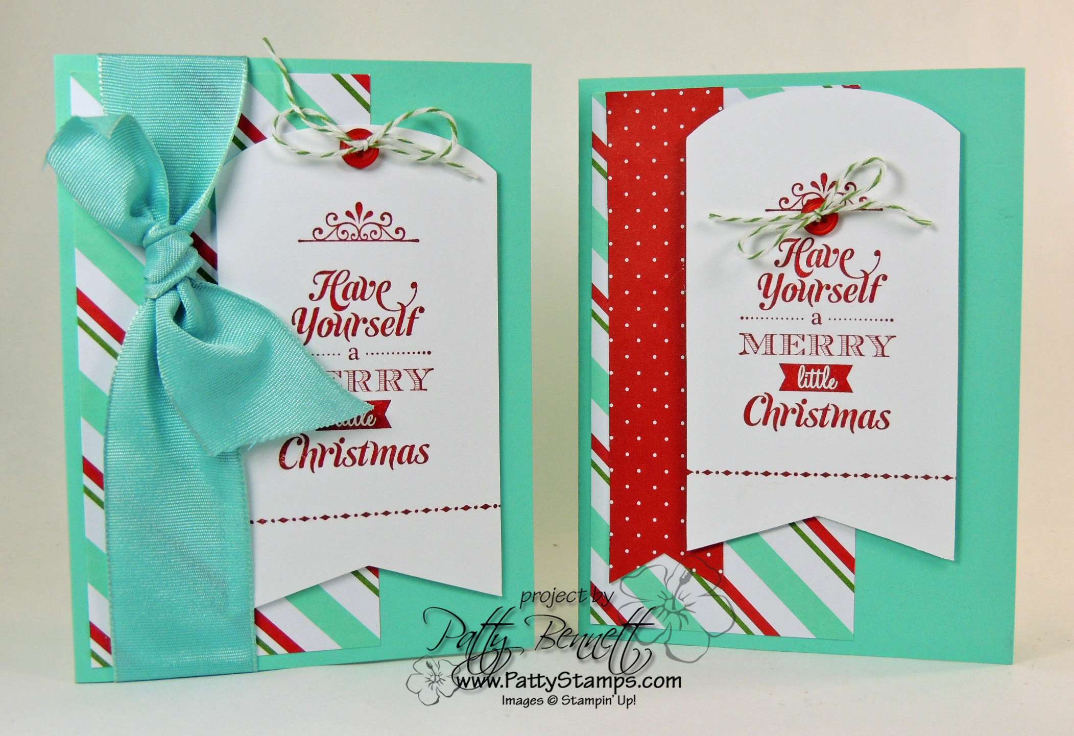 Merry Little Christmas Simply Created Card Kit Class Project - Patty ...