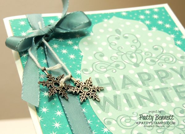 Wintertime-card-all-is-calm-snowflake-embellishments-card
