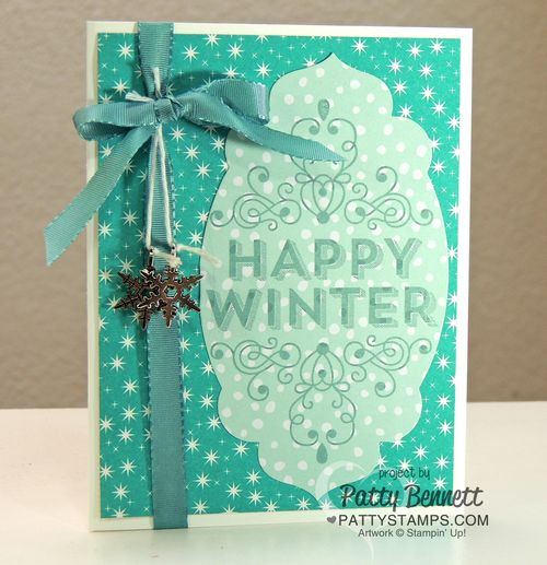Wintertime-card-all-is-calm-snowflake-embellishments