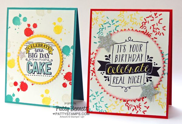 Balloon Bash Big Day Birthday Cards Stampin Up