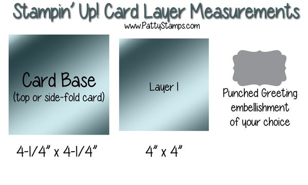 Card measurements stampin up pattystamps blog square