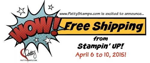 Free shipping stampin up pattystamps