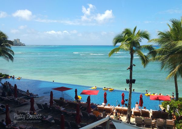 Hawaii-stampin-up-pattystamps-sheraton-waikiki-pool-beach