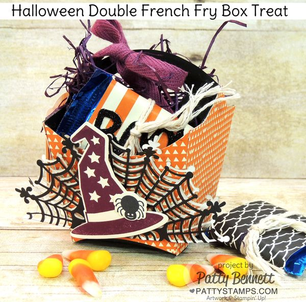 Halloween-french-fry-box-double-treat-witches-hat-spider-web-doily-stampin-up