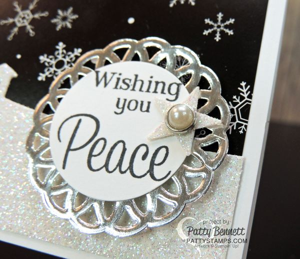Sleigh-ride-edgelit-card-doilies-pearls-pattystamps-stampin-up-peace