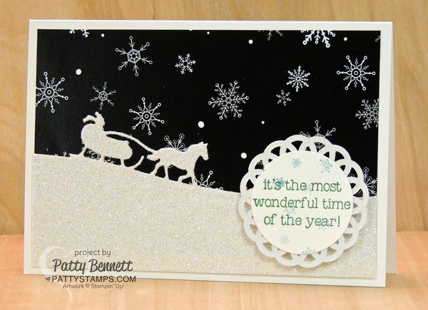Sleigh-ride-edgelit-card-stampin-up-glimmer-paper-pattystamps