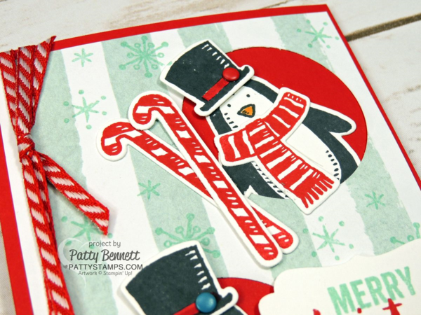 Christmas Penguin card by Patty Bennett.  Snow Place and Snow Friends BUNDLE available at 15% off!