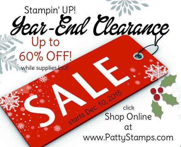 Year end sale stampin up pattystamps